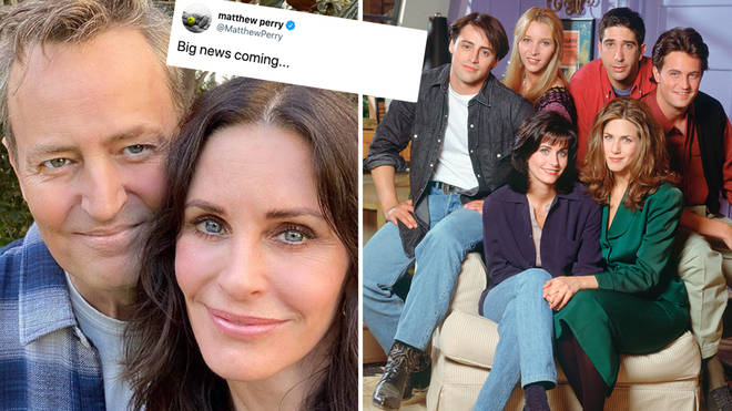 Matthew Perry has sent Twitter into meltdown as he appeared to hint at a Friends reunion