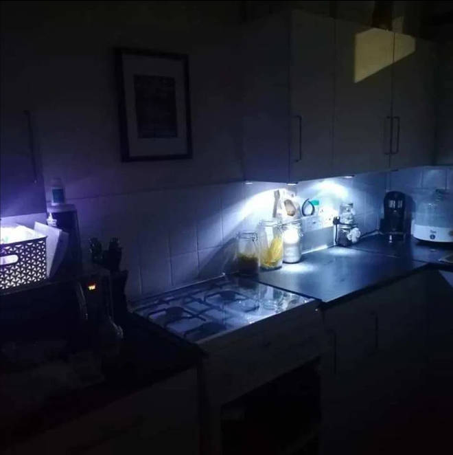 The mum shared a photo of her new kitchen to the Facebook group