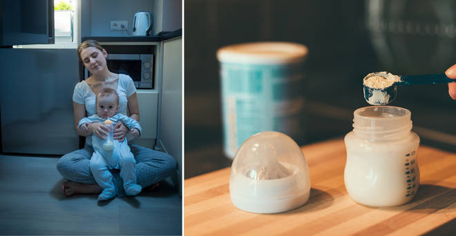 The new-mum has praised the kitchen lights for helping with night time feeds (stock image)