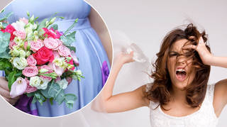 A bride was left fuming when her bridesmaid announced her pregnancy