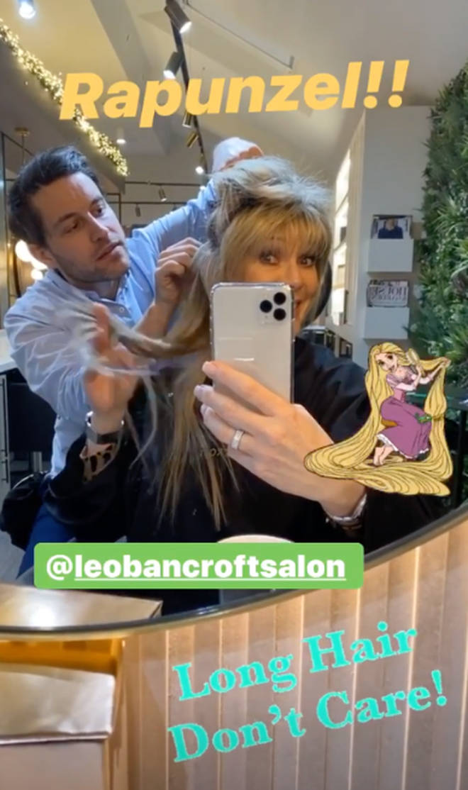 Ruth Langsford revealed to fans she's been having hair extensions put in her locks