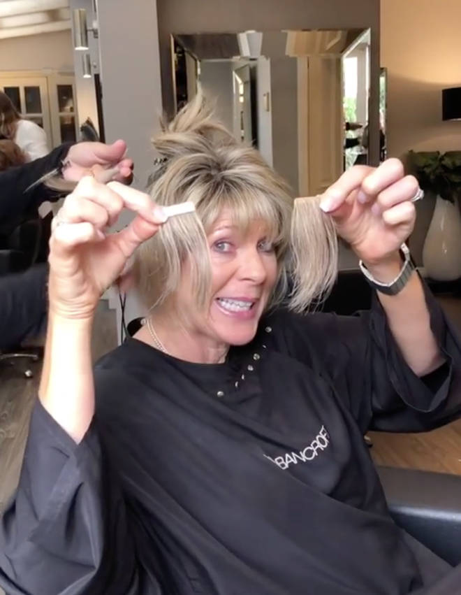 Ruth revealed that her hair has thinned since going through the menopause
