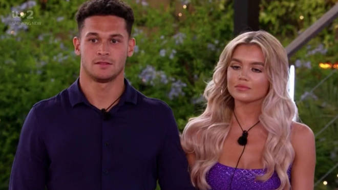 Callum and Molly looked nervous as they returned to the main villa hand-in-hand