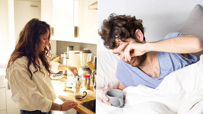 A woman has been slammed for sharing her morning routine
