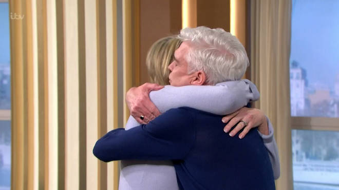 Ruth Langsford shared a warm embrace with Phillip after his news