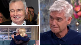 Phillip Schofield was comforted by Eamonn Holmes - before he made a cheeky joke