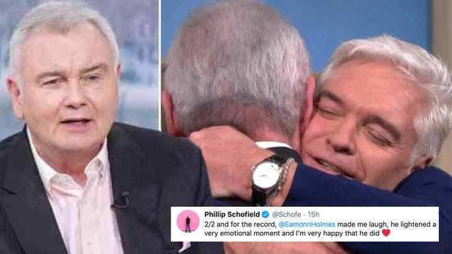 Phillip Schofield jumps to Eamonn Holmes' defence after the 57-year-old announces he's gay.
