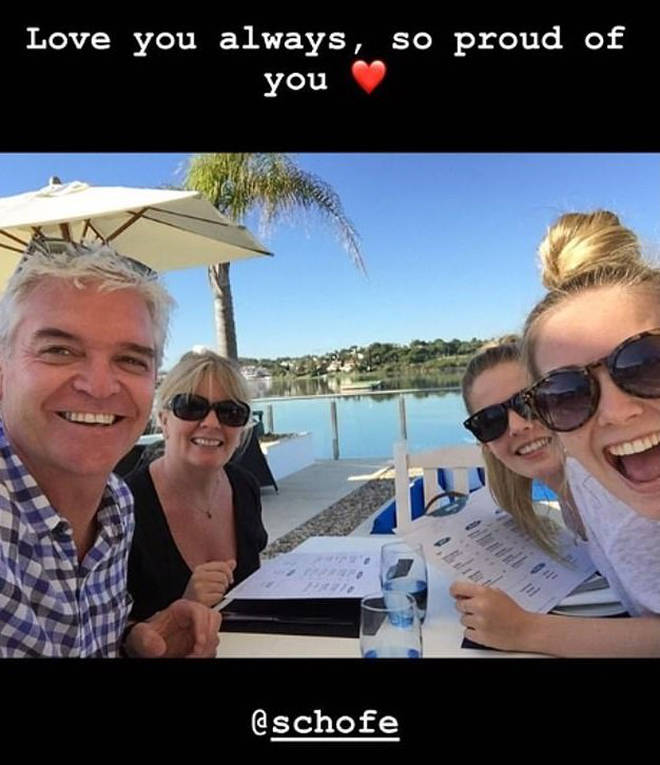 The telly star's daughter has thrown her support behind Phillip.