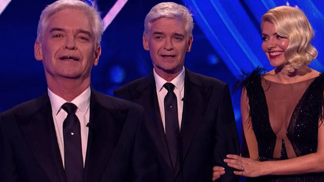 Phillip Schofield teared up as he was applauded during Sunday's Dancing On Ice