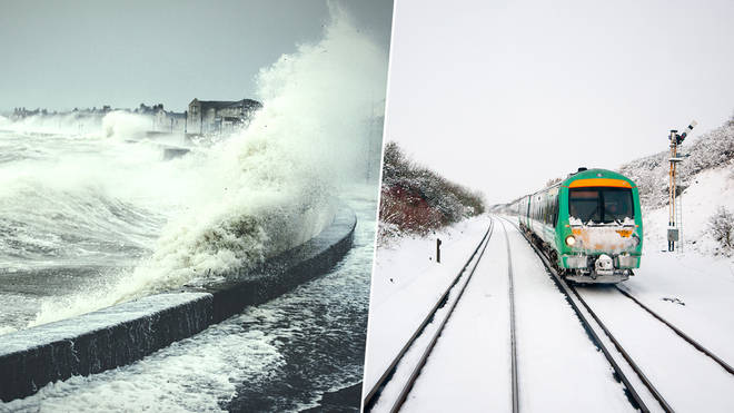 Britain will be hit by snow and wind