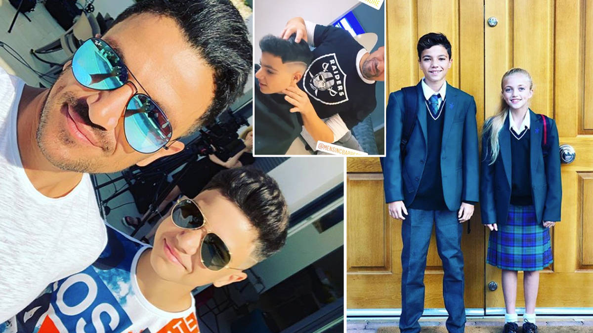 Peter Andre under fire for son Junior's new hairstyle