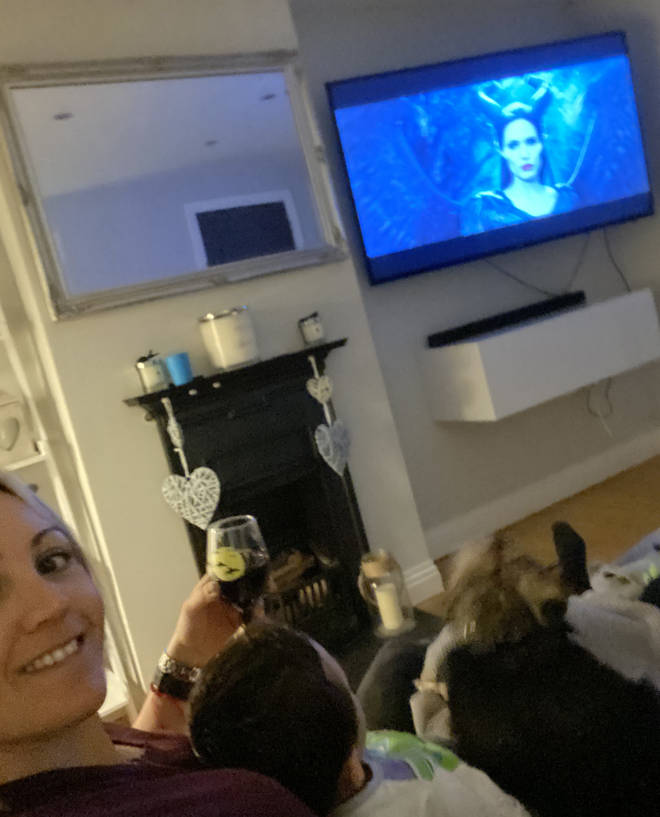 Fia and Harris love their Sunday movie nights