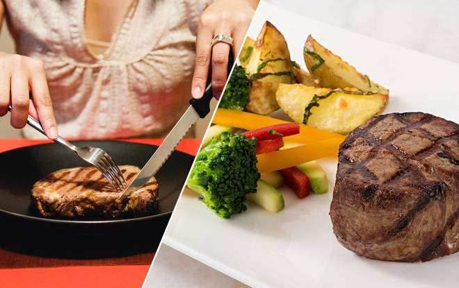 The ladies' steak is apparently popular, according to the restaurant owner