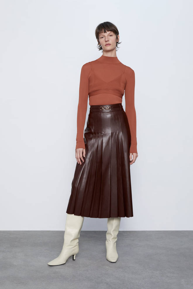 Holly's skirt is £49.99 from Zara