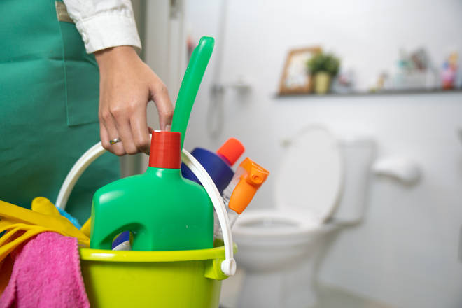 A mum claimed she uses washing up liquid to clean her toilet (stock image)