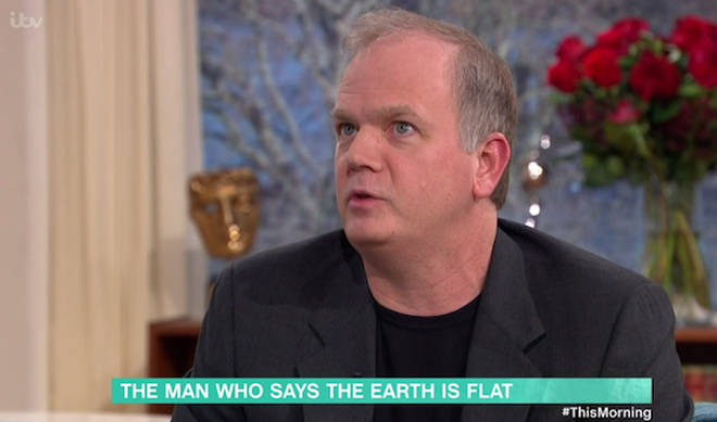 Mark believes the earth is flat, and that images from the Space Station is just CGI