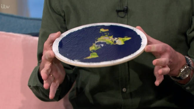 Mark told Holly and Phillip that the earth is surrounded by the Antarctic and the North Pole can be found in the centre