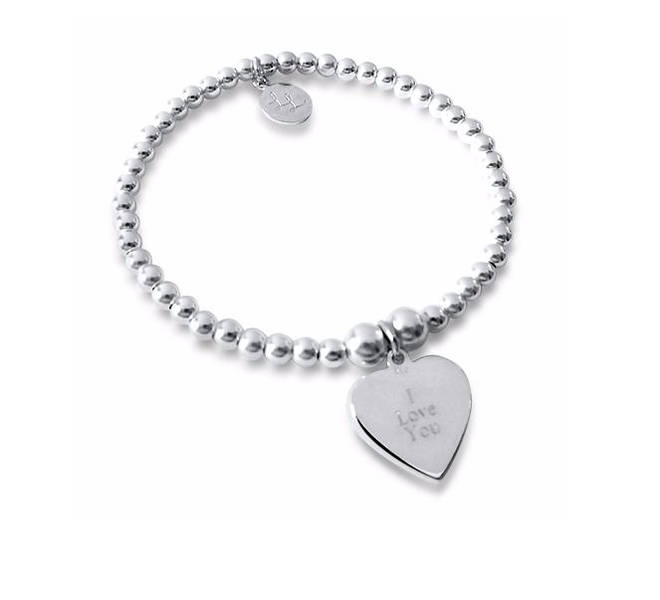 Personalised Love Heart Bracelet, £40