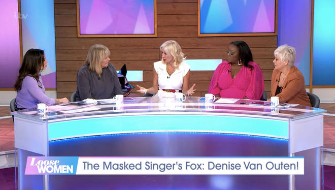 Denise spoke to the Loose Women panel on Monday