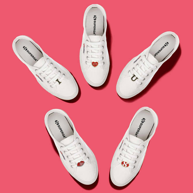 Superga Valentine's Day charms and laces, £5