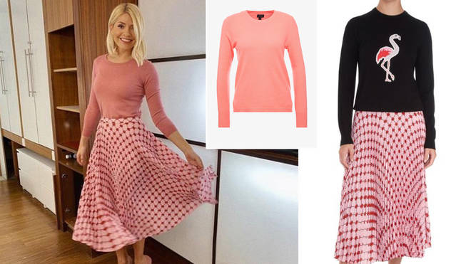Holly Willoughby's skirt is from Markus Lupfer