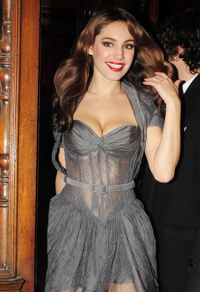 Kelly Brook leaving the Noel Coward theatre in November 2009 after the opening night of Calendar Girls