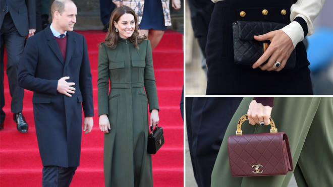 Why Kate Middleton always holds her bag in her left hand