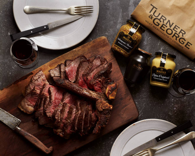 Show off your cooking skills (or his) with a restaurant-standard steak delivered to his door
