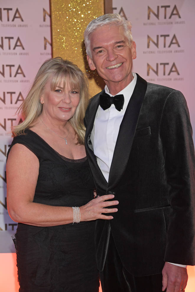 Stephanie Lowe and Phillip Schofield at the NTAs in January 2020