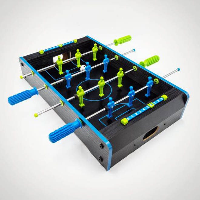 Mini table football... just add willing opponent