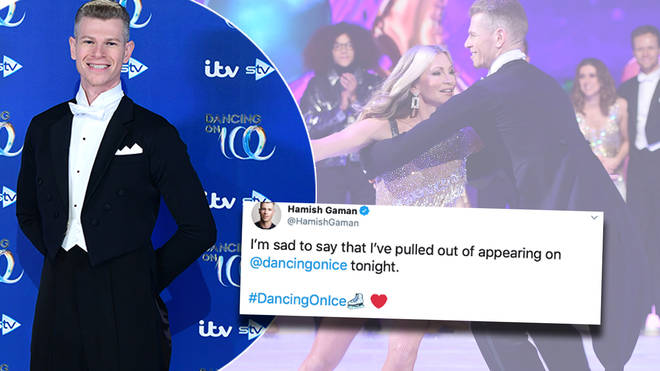 Hamish Gaman will not appear on tonight's episode of Dancing On Ice