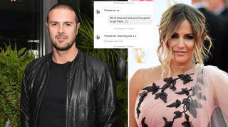 Paddy McGuinness shared screenshots of his texts with Caroline Flack