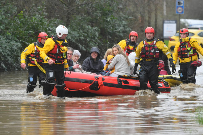 Members of the public were rescued after flooding in Nantgarw