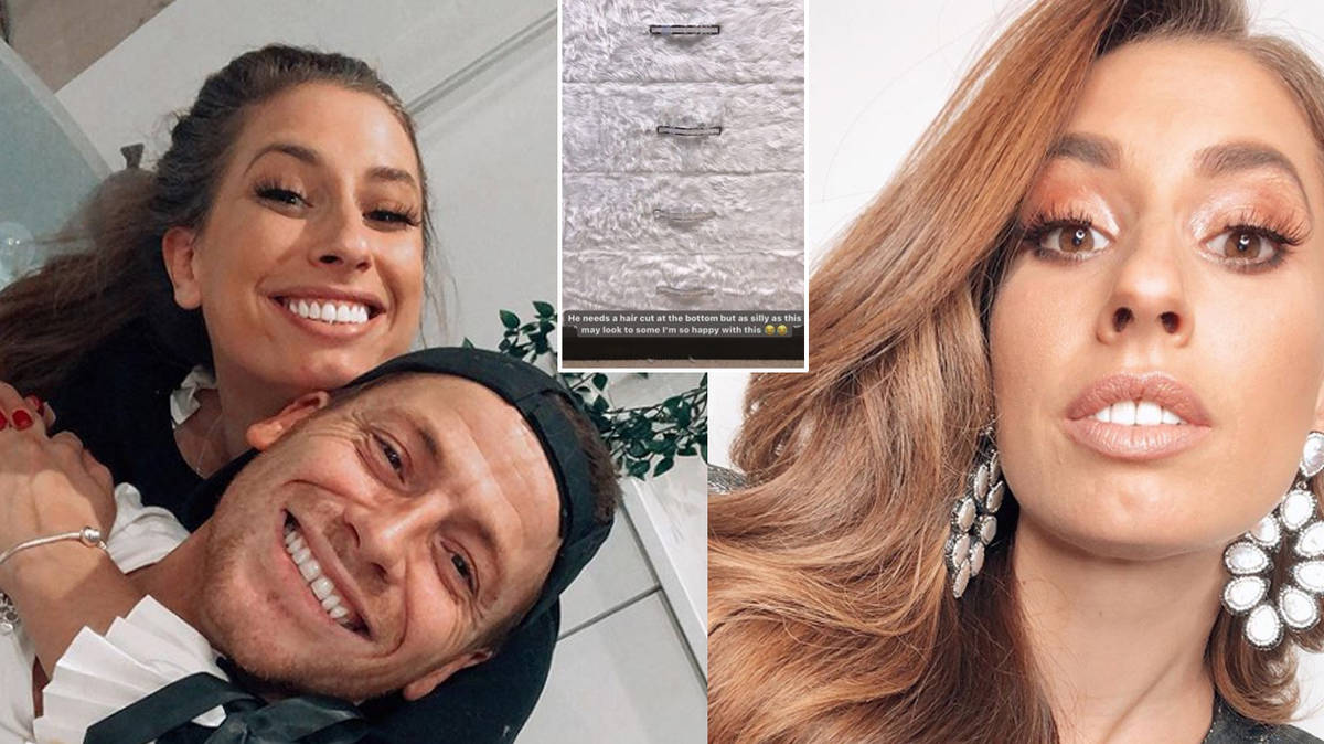 Stacey Solomon redecorates drawers with fur and glitter