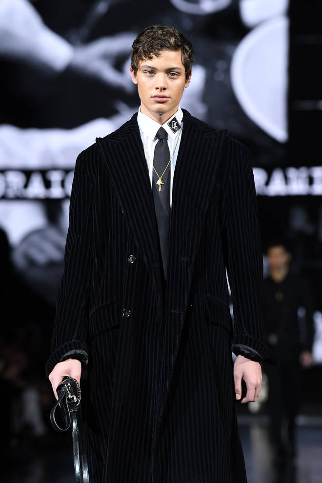 Bobby walking for Dolce and Gabbana earlier this year