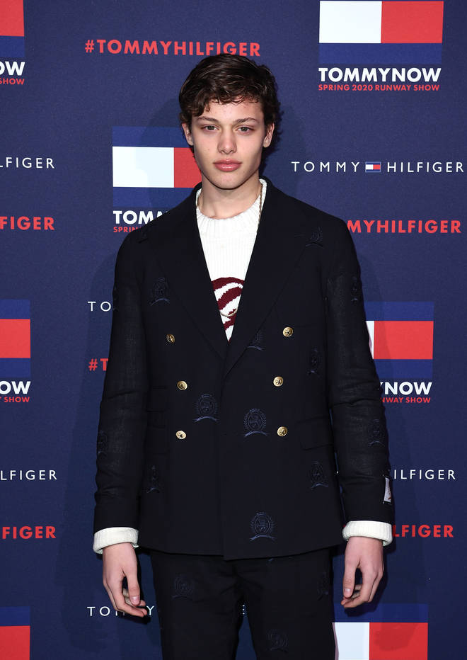 Bobby worked the red carpet at Tommy Hilfiger