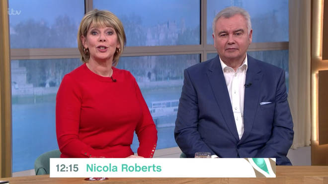 Eamonn Holmes appeared to be recovered during This Morning on Monday