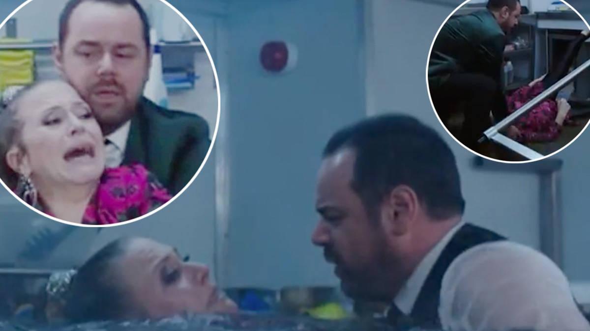 EastEnders viewers baffled over Linda Carter's foot 'blunder' in dramatic boat crash