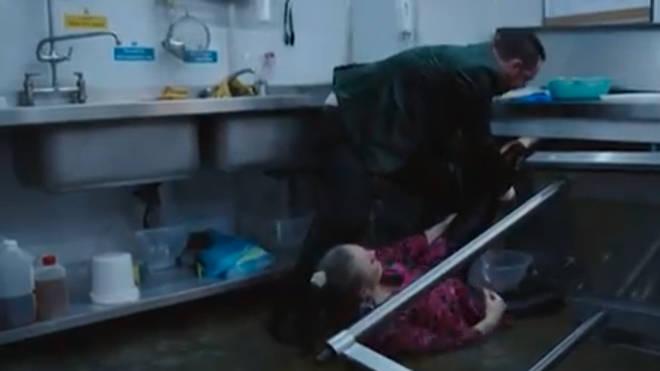 Mick tried to release Linda's foot on EastEnders