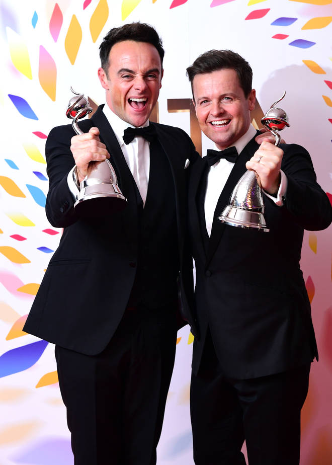Ant and Dec won Best Presenters at the NTAs for the 19th year in a row
