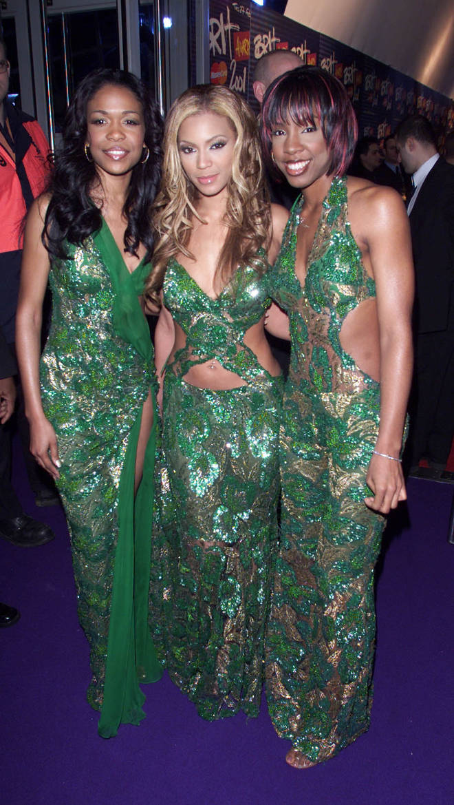 Destiny's Child wore matching green ensembles in 2001