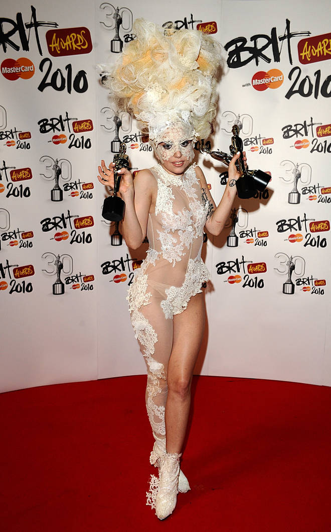 Lady Gaga shocked everyone with her revealing ensemble in 2010