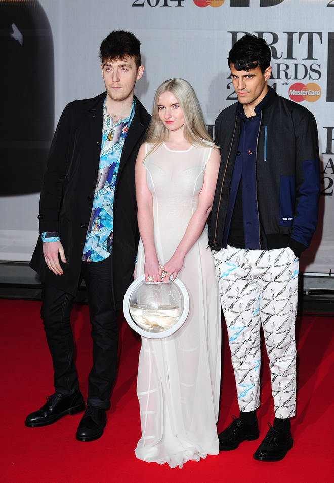 Clean Bandit's Grace bought two fishy guests along with her to the Brits in 2014