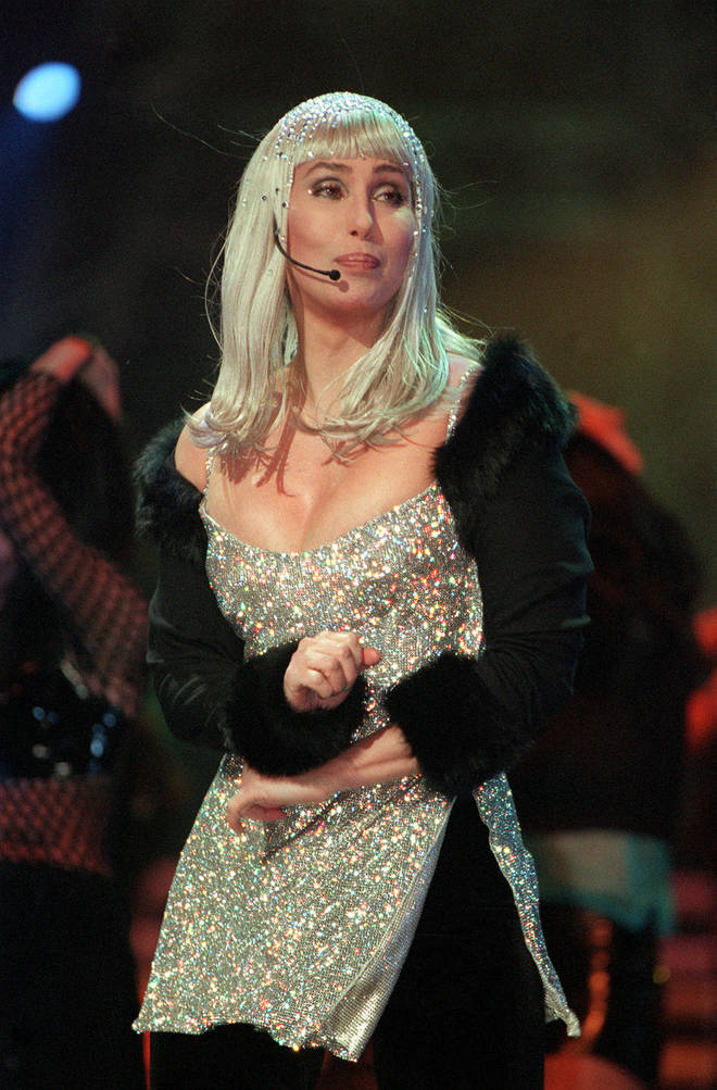 Cher wore this iconic silver dress and matching headpiece for the 1999 Brit Awards