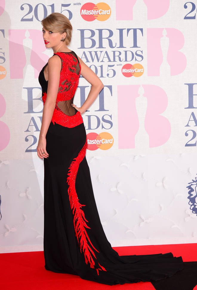 Taylor Swift had a big year at the 2015 Brit Awards