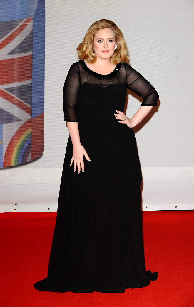 Adele looked stunning for the 2012 Brit Awards in a simple but chic black gown