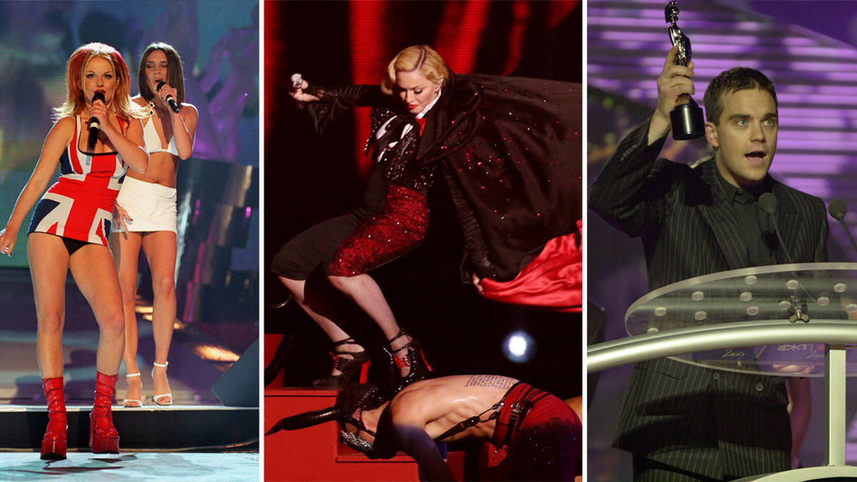 A look back at the most outrageous Brit Awards moments ever
