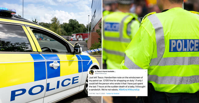 The police officer shared the heartbreaking story on Twitter (stock images)