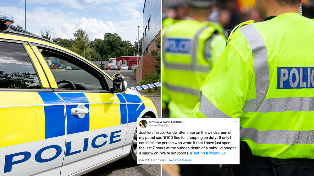 Police officer's heartbreaking response to rude letter left on his patrol car