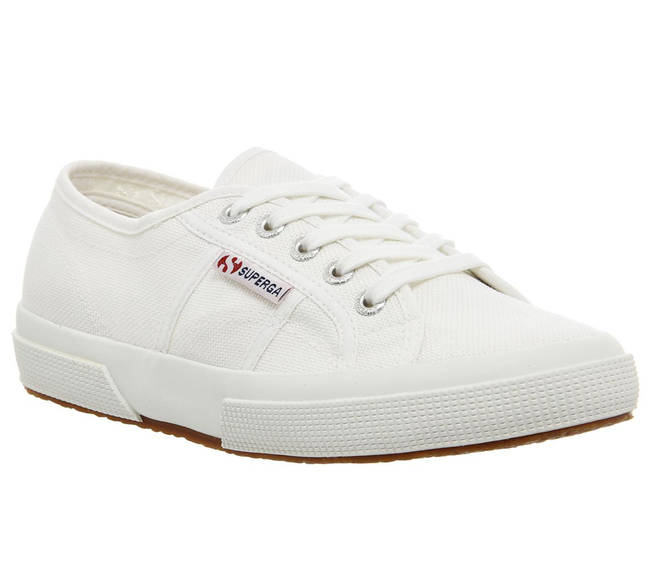 The white Superga's are on sale for £30 on Amazon